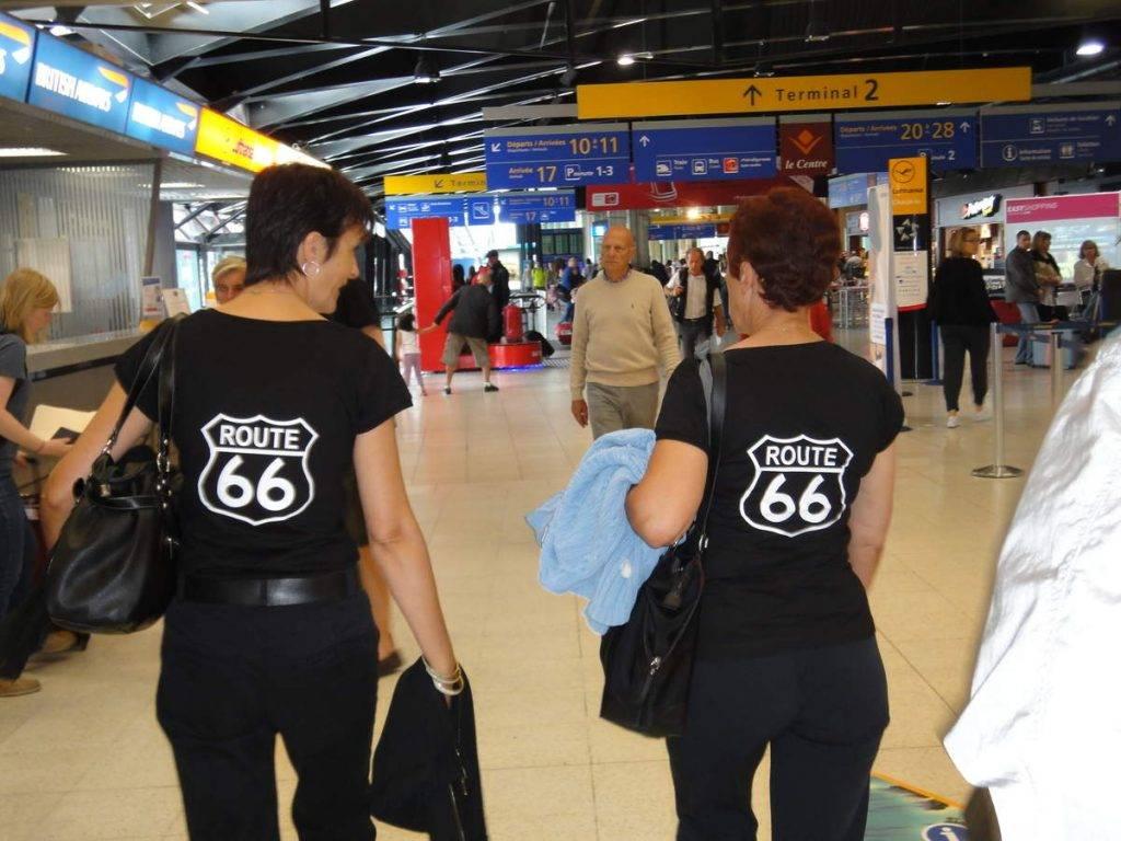 Départ route 66