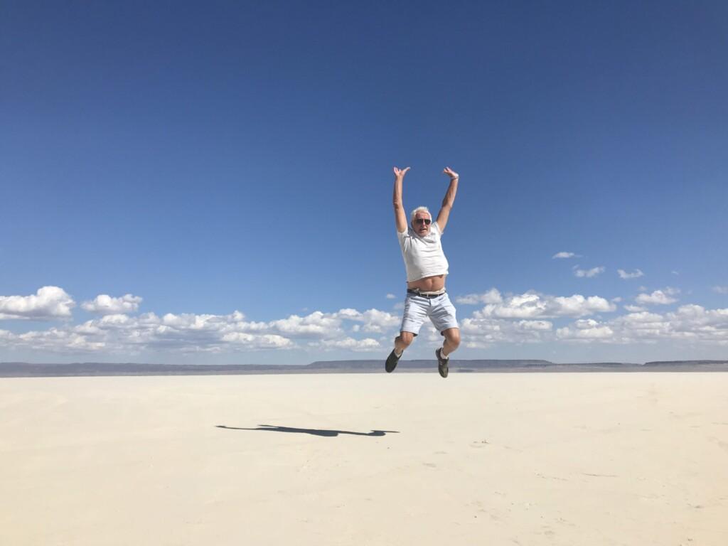 Sur playa de sel désert d'Alvord. Magique !!!