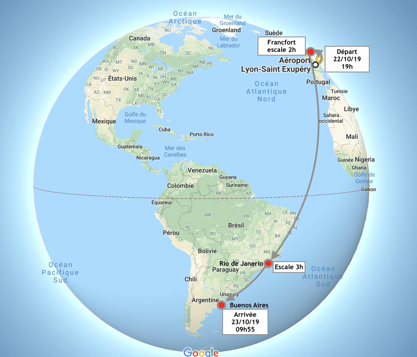 voyage Lyon Buenos Aires