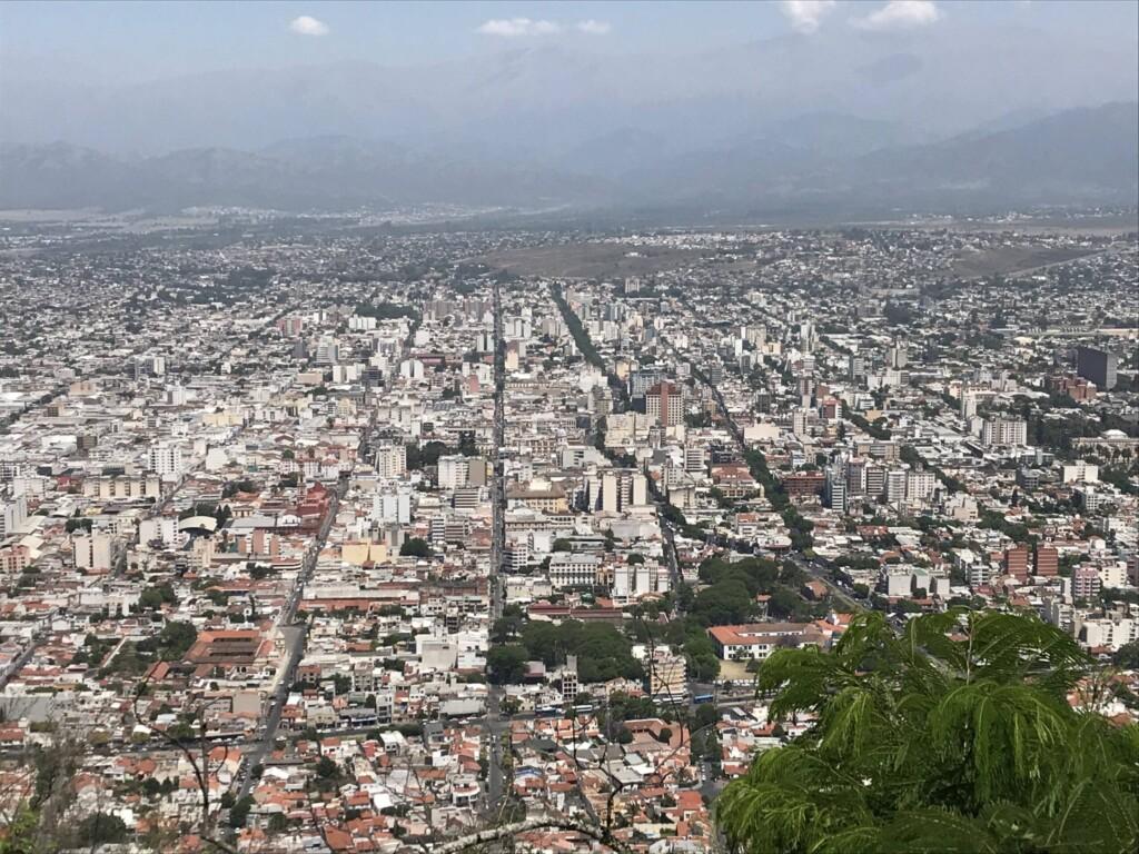 Vue panoramique sur Salta