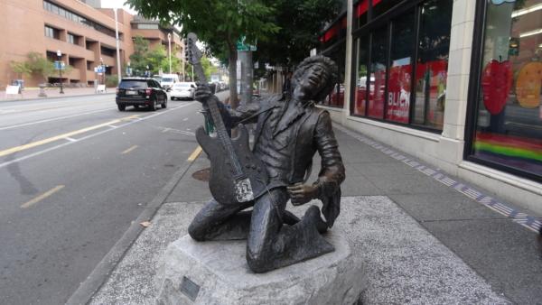Statue de Jimi Hendrix natif de Seattle