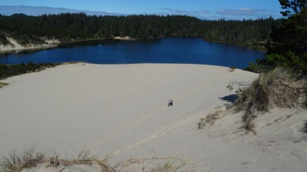 Marcher dans les dunes c'est fatiguant....