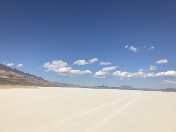 Désert d'Alvord la playa de sel.