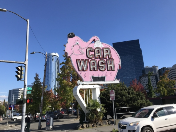 Le très célèbre éléphant rose de Seattle