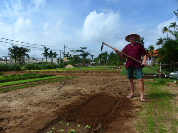 Atelier jardinage à Tra Que