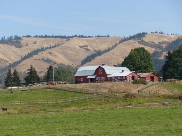 Ferme typique de l'Oregon