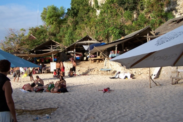 Plage réservé au amateurs de surf à Nusa Dua