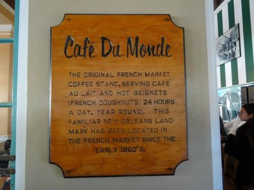 Café du monde renommé pour ses beignets