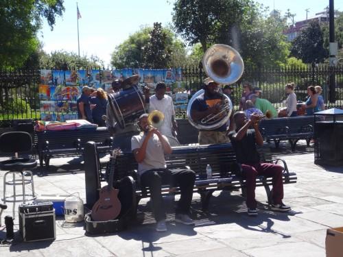 Orchestre de rue à la Nouvelle Orléands