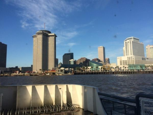 Vue de la Nouvelle Orléans du ferry