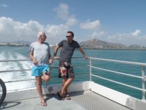 Père et Fils sur le ferry pour Magnetic Island